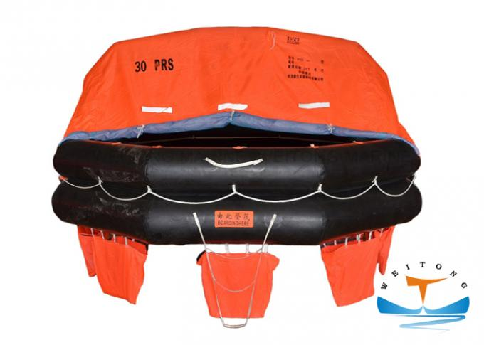 Waterproof Life Rafts For Small Boats , Davit Launched