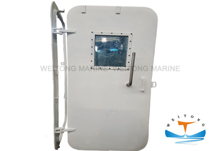 Single Marine Watertight Doors Soundproof Aluminum Material For Commercial Vessels