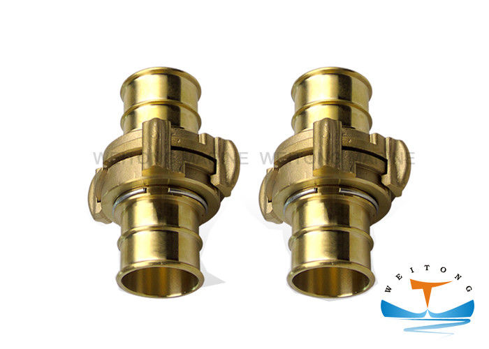 Nakajima Type Brass Fire Hose Coupling , Aluminum Hydraulic Hose Fittings Sand Blast Surface