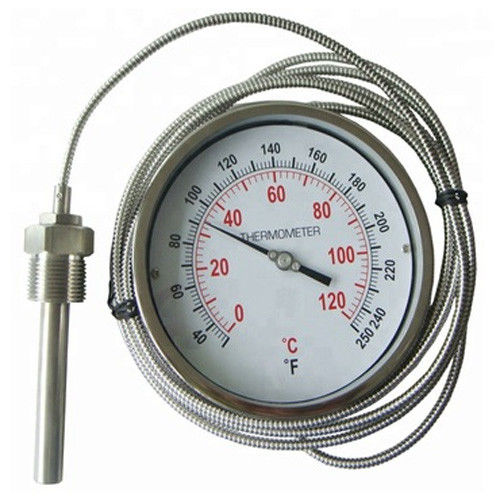 Stainless Steel Industrial Remote Reading Thermometer / Bimetal Thermometer