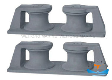 China Type B Marine Mooring Equipment Cast Double Roller Roller Fairlead Chock factory