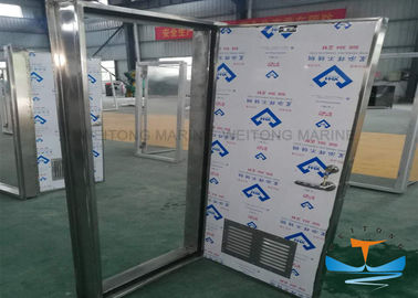 China Stainless Steel Marine Watertight Doors Customized Dimension Galvanized Finishes factory