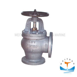 JIS F7376 10K Marine Valve , Cast Iron Angle Screw - Down Check Valve